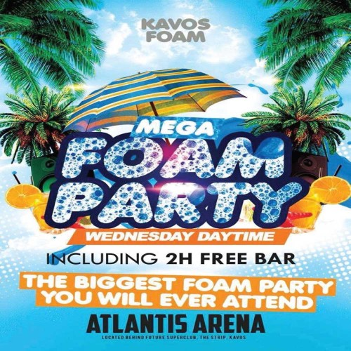 Mega Foam Party at Atlantis, Kavos