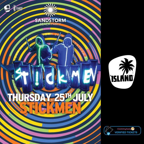 Sandstorm Beach Party - 25th July 2019 - STICKMEN