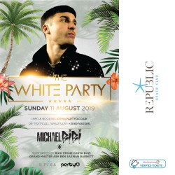 The White Party - Michael Bibi - 11th August - Republic Beach Club, Zante