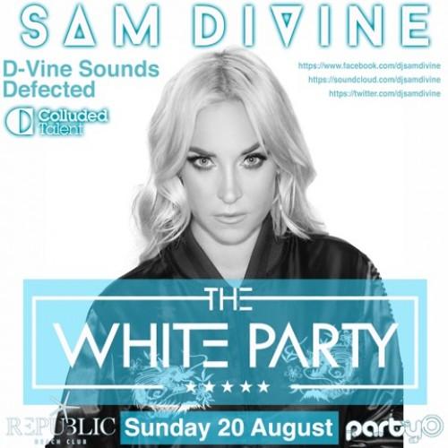 The White Party - 20/08/17 - Sam Divine - Republic Beach Club, Zante