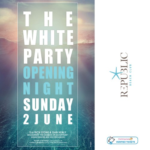 The White Party - 2nd June 2019 - OPENING PARTY - Republic Beach Club, Zante