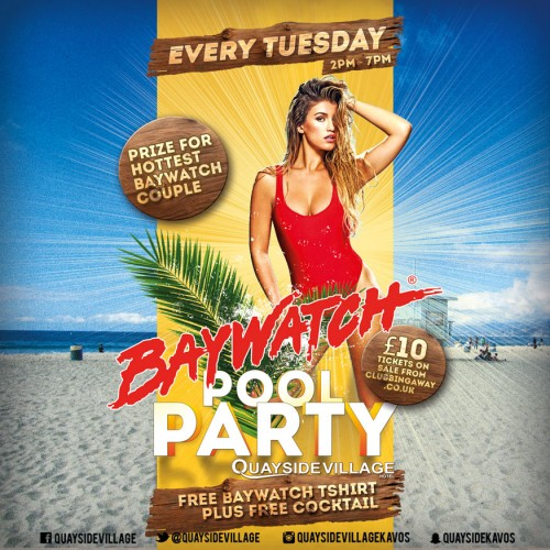 Quayside Village VIP Booth Package (6-8 People) - BAYWATCH TUESDAYS